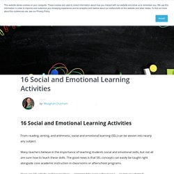 16 Social and Emotional Learning Activities - Aperture Education
