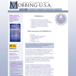Mobbing-U.S.A. - Emotional Abuse in the American Workplace