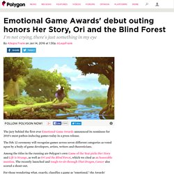 Emotional Game Awards' debut outing honors Her Story, Ori and the Blind Forest