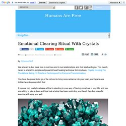 Emotional Clearing Ritual With Crystals