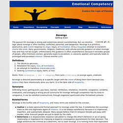 Emotional Competency - Revenge