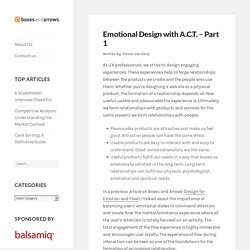 Emotional Design with A.C.T. - Part 1