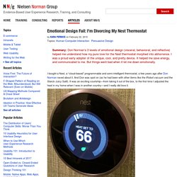 Emotional Design Fail: Divorcing My Nest Thermostat