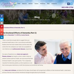 The Emotional Effects of Dementia (Part 2)