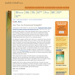 Are You An Emotional Empath? by Judith Orloff M.D.