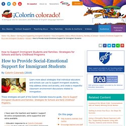 How to Provide Social-Emotional Support for Immigrant Students