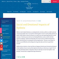 Social and Emotional Impacts of Dyslexia