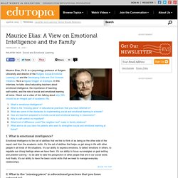 Maurice Elias: A View on Emotional Intelligence and the Family
