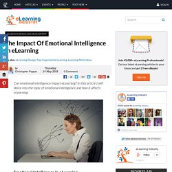 The Impact Of Emotional Intelligence In eLearning