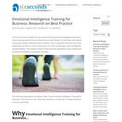 Emotional Intelligence Training for Business: Best Practices for Success
