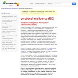 Emotional Intelligence theories