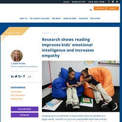 Research Shows Reading Improves Kids Emotional Intelligence