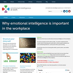 emotional intelligence at work - culture at work