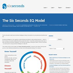 The Six Seconds Model of Emotional Intelligence: EQ in ActionSix Seconds