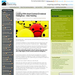 Leading With Heart Centred Emotional Intelligence - Dee Harding