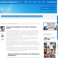Enhance your Emotional Intelligence