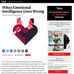 When Emotional Intelligence Goes Wrong