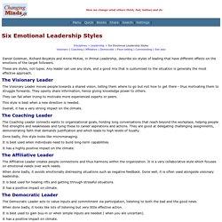 Six Emotional Leadership Styles