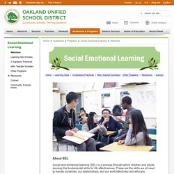 Social Emotional Learning / Welcome
