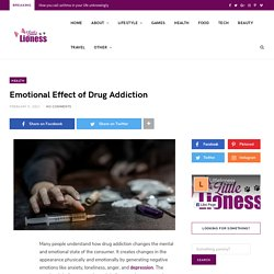 Emotional Effect of Drug Addiction ~ littlelioness