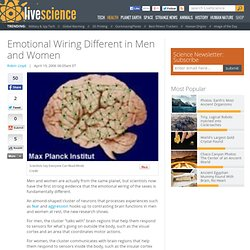 Emotional Wiring Different in Men and Women