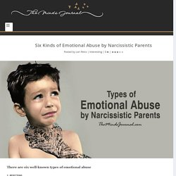 Six Kinds of Emotional Abuse by Narcissistic Parents - The Minds Journal