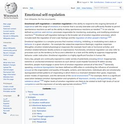 Emotional self-regulation - Wikipedia