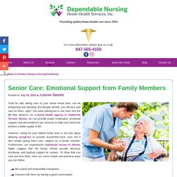 Senior Care: Emotional Support from Family Members