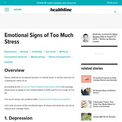 7 Emotional Symptoms of Stress: What They Are and What You Can Do
