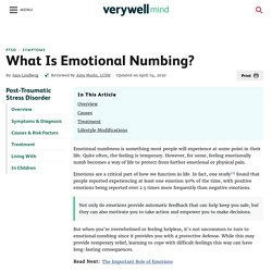 What Is Emotional Numbing?