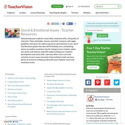 Social & Emotional Issues - Teacher Resources