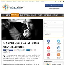 20 Warning Signs of an Emotionally Abusive Relationship