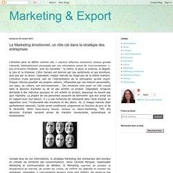 Le Marketing émotionnel, un rôle clé dans la stratégie des entreprises