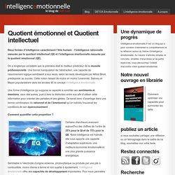 Quotient émotionnel et Quotient intellectuel