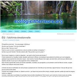ÉI2 : l'alchimie émotionnelle - Écologie intérieure