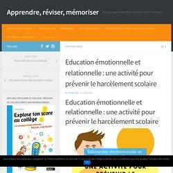 Education émotionnelle et relationnelle : une activité pour prévenir le harcèlement scolaire