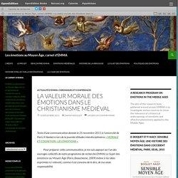 La valeur morale des émotions dans le christianisme médiéval