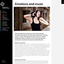 Emotions and music : Copernicus Science Centre
