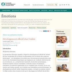 Émotions: développement affectif chez l'enfant