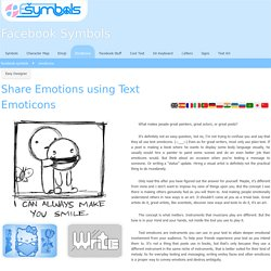 Share Emotions using Text Emoticons (Smileys)