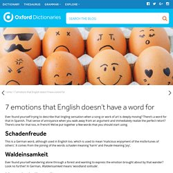 7 emotions that English doesn't have a word for
