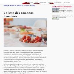La liste des émotions humaines - Magazine Féminin Du Monde De La Femme