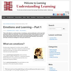 Emotions and Learning – Part 1