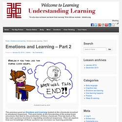 Emotions and Learning – Part 2