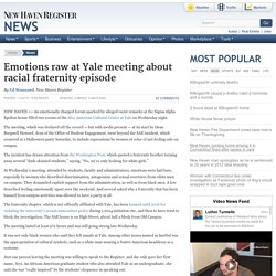 Emotions raw at Yale meeting about racial fraternity episode
