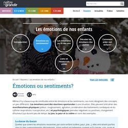 Émotions ou sentiments?