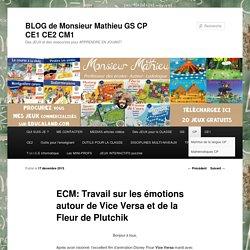 ECM: Travail sur les émotions autour de Vice Versa et de la Fleur de Plutchik