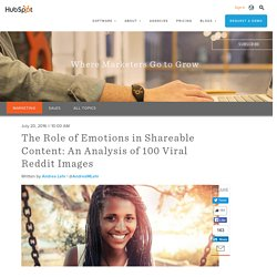The Role of Emotions in Shareable Content: An Analysis of 100 Viral Reddit Images