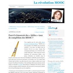 Faut-il s'émouvoir des «faibles» taux de complétion des MOOC ?