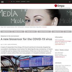 Biosensor to detect Coronavirus in the air - ETHZ / EMPA
